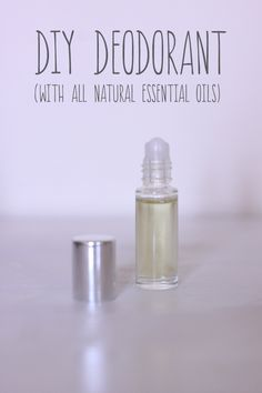 DIY Deodorant with all natural essential oils only!