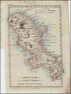 Martinique 1780 by Robert Bonne #map #martinique #caribbean