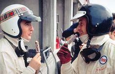 Jackie Stewart and Jim Clark, 1965