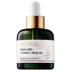 BIOSSANCE Squalane + Vitamin C Rose Oil #Biossance