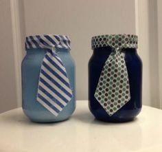 Custom Tie Mason Jars, Perfect Father's Day Presents! Order before Wednesday June 11 to get in time for Father's Day! Diy Father's Day Gifts Easy, Diy Gifts For Men, Father's Day Diy, Gifts For Dad, Fathers Day Presents, Fathers Day Crafts, Mason Jar Gifts, Mason Jar Diy, Mason Jar Fathers Day Gifts