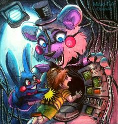 Kidnap machine / FuntimeFreddy FNaF by Mizuki-T-A