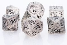 Elven Dice (Ice Black) | RPG Role Playing Game Dice Set