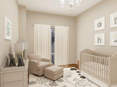 3D VIRTUAL DESIGN OF NURSERY IN NYC  *Full set of 3D Photo realistic images & Shopping list can be found in board*