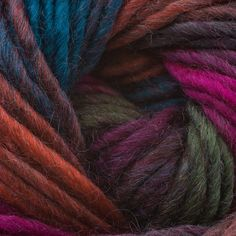 King Cole Riot Chunky Knitting yarn is a commotion of colors. Beautiful bright, bold and vibrant shades blend into each other to create self-striping patterns in your work. Make exciting scarves, mitts and hats: perfect for gifts at Christmas time.