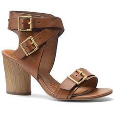 Women's Isola Lisinda High-Heel Leather Sandals Brown 6.5