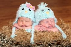 to use up that fluffy yarn I have...Baby Bird Hat