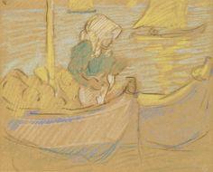 """Oyster Catching in Arcachon"", 1910, Louis Valtat"