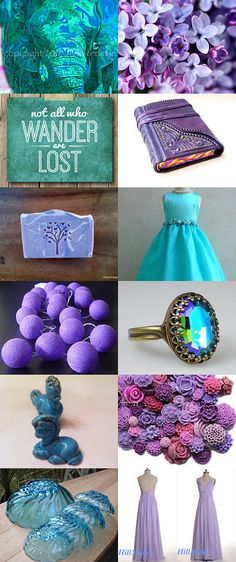 Some things aqua blue, and some with a purple hue by Jennifer Stedman on Etsy--Pinned with TreasuryPin.com
