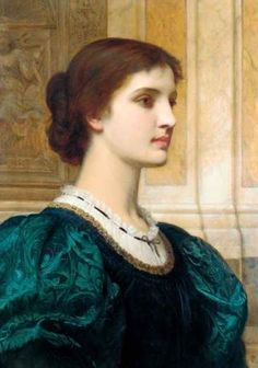 Portrait of Kate Dickens, wife of the artist - Charles Edward Perugini.