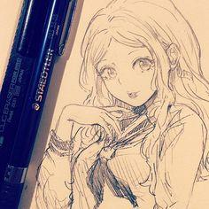 休憩〜いつも思うんですが、中途半端にしかかけてなくてすいません、、いつか描きます #illustration #doodle #drawing #otaku #manga #イラスト #絵 #落書き #アナログ