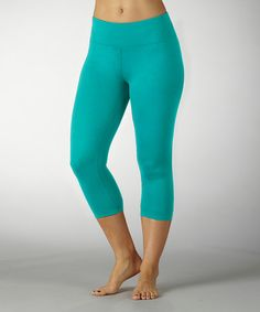 Take a look at this Cerulean Sanded Dry-Wik Capri Leggings by Fitness Picks: Women's Activewear on @zulily today!