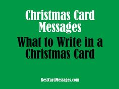 helpful ideas of what to write in your christmas cards if you are running out of brain cells