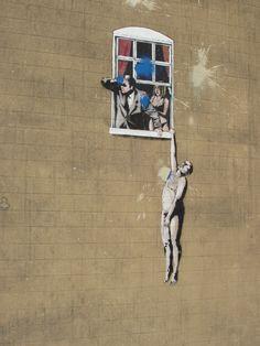 "Banksy - ""Naked Man"""