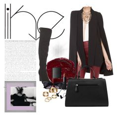 """""""Burgundy Obsessed"""" by essbie on Polyvore featuring Akira, NARS Cosmetics, Apt. 9, Monster and Nila Anthony"""