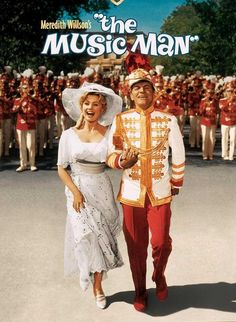 "1962 musical film starring Robert Preston as Harold Hill and Shirley Jones as Marian Paroo. The film is based on the 1957 Broadway musical of the same name by Meredith Willson. The film was one of the biggest hits of the year and highly acclaimed critically.    In 2005, The Music Man was selected for preservation in the United States National Film Registry by the Library of Congress as being ""culturally, historically, or aesthetically significant""."