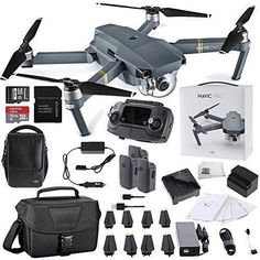 DJI Mavic Pro FLY MORE COMBO Collapsible Quadcopter Starters Travel Bundle