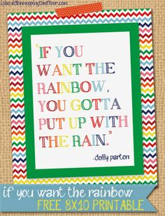 Free 8x10 Rainbow Printable /// Instant Download