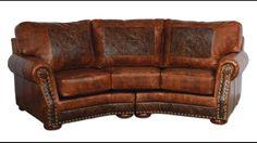 Laura Ashley Distressed Leather Sofa