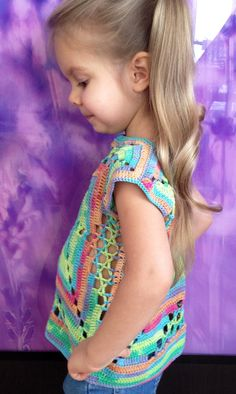 Artículos similares a Rainbow crochet toddler baby vest Granny square cropped top Boho gypsy chic kids clothing Summer cotton children sweater jacket Outfit girls en Etsy Crochet Toddler, Crochet Baby, Crochet Tops, Mother Mary, Etsy, Crochet Ideas, Beauty, Dresses, Style