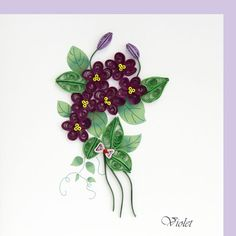 Violettes. Quilling. Product Image