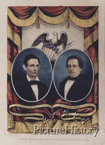 Republican Presidential Campaign Poster 1860.  Abraham Lincoln and Hannibal Hamlin.