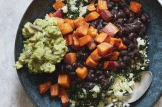 Cauliflower Rice Veggie Bowls (with Instant Pot Black Beans) - What's Gaby Cooking