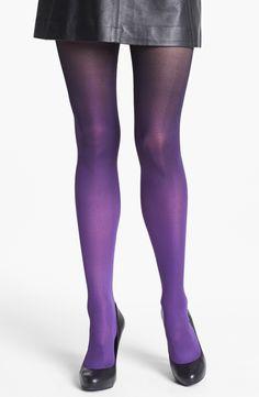 Dkny Ombré Tights in Purple (Black/ Purple)