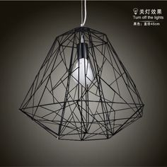 $150.50 / piece Fixture Width: 45 cm (18 inch) Fixture Length : 45 cm (18 inch) Fixture Height:50 cm (20 inch) Chain/Cord Length : 50 cm (20 inch) Color : black Materials:iron