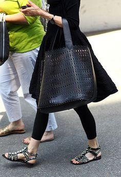 Balenciaga sandals and Alaia bag. #NaaiAntwerp