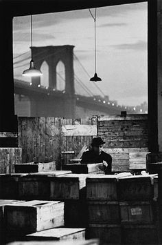 by Jan Lukas, Fish Market, New York City, 1964