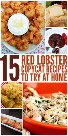 15 Red Lobster Copycat Recipes to Try at Home Ready to get your seafood fix? Before you head out to Red Lobster to spend a load of cash, try making your favorite recipes at home. From their famous Cheddar Bay Biscuits to their amazing Lobster Recipes, Fish Recipes, Seafood Recipes, New Recipes, Cooking Recipes, Favorite Recipes, Recipies, Coconut Shrimp Recipes, Cheap Recipes