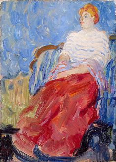 Portrait of the Artist's Sister, Suzanne Dufy, 1904-Raoul Dufy - by style - Fauvism