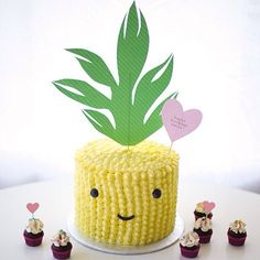 Adorable piped buttercream pineapple cake from Coco Cake Land! - see more of our favourite insta-inspo on instagram @sweet_magazine
