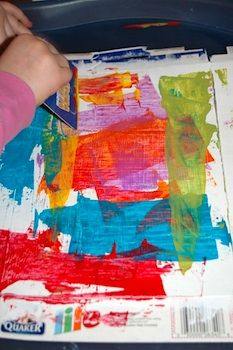 Credit Card Art for Kids...what ever happened to good old fashioned paint brushes. You could use those credit cards to buy some!     e-commerce, online retail outlets, online shopping, credit cards