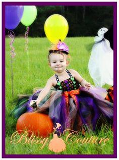 Witch Tutu Dress Halloween Costume by www.BlissyCouture.net