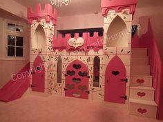 New Custom Princess Bella 2 Castle Bed Loft Bunk Dream