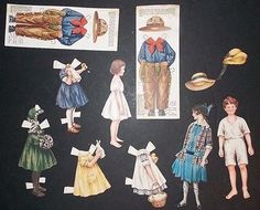 Vintage Sunshine Biscuits Advertising Paper Dolls & Clothing Loose Wiles