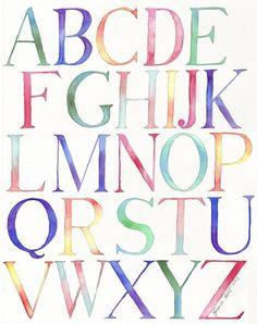 BRIKA.com | Alphabet Rainbow Original Watercolor (one-of-a-kind)