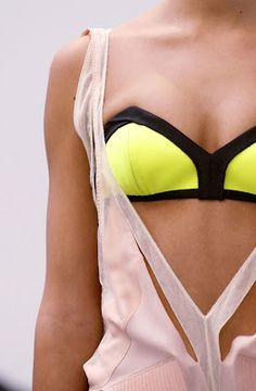 geometric neon swim suit.  Follow us on #facebook: http://www.facebook.com/MODEBayArea
