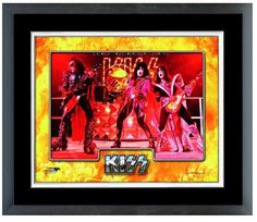 """""""KISS"""" 2014 Rock and Roll Hall of Fame Inductees-11""""x 14"""" Framed/Matted Photo"""
