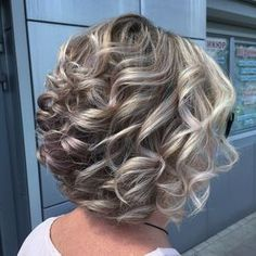 Mother Of The Groom Hairstyles, Mother Of The Bride Hair, Curly Bob Hairstyles, Short Curly Hair, Short Haircuts, Wedding Hairstyles, Cheer Hairstyles, Braided Hairstyles, Virtual Hairstyles