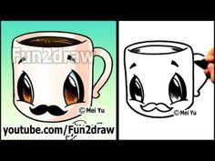 How 2 draw a panda easy cartoon drawings drawing tutorial for fun 2 draw how 2 draw red panda step by step Easy Drawings Sketches, Easy Drawings For Kids, Love Drawings, Kawaii Drawings, Drawing Ideas, Drawing Lessons, Animal Drawings, Funny Cartoon Drawings, Cartoon Girl Drawing