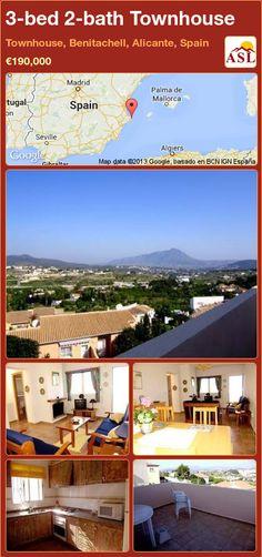 3-bed 2-bath Townhouse in Townhouse, Benitachell, Alicante, Spain ►€190,000 #PropertyForSaleInSpain