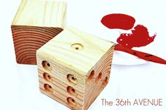The 36th AVENUE   Wood Dice TUTORIAL… Would be great for a homemade lawn yatzee game!
