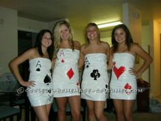 Cards... add tights and sleeves on the dresses?