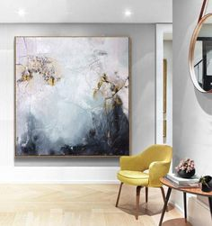 Large Oil Painting Abstract Black And White Art Gray Painting White Painting Gold Painting Living Room Art Abstract Painting Canvas - My list of the most beautiful artworks Oil Canvas, Large Canvas Art, Black Canvas, Black And White Painting, White Art, Black White, Black Art, White Gold, Contemporary Abstract Art