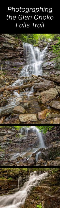 Photographer's Guide to the Glen Onoko Falls Trail. A beautiful, rugged waterfall hike in the Pocono Mountains of Pennsylvania. Chameleon Falls, Cave Falls, landscape, nature, photography, photos, hiking, Lehigh Gorge State Park, State Game Lands. #waterfall #landscapephotography #pennsylvania