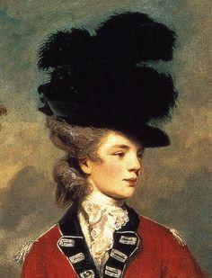 Lady Worsley. Detail. 1776 Joshua Reynolds