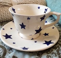Emma Bridgewater Starry Skies Small Tea Cup & Saucer 2015